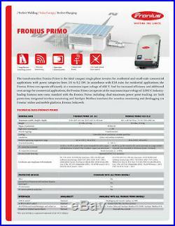 FRONIUS Solar Inverter 4.210.061.890. RGM PRIMO 7.6-1 WLAN withRGM, 208v/240v