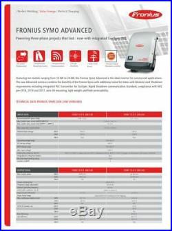 Fronius 10KW SYMO 10.0-3 LITE, 10000 watt Gridtie Inverter 208v/240v