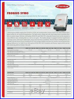 Fronius 4,210,051,851 Symo 12.0-3 208/240VAC Solar Inverter