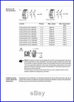 Fronius 4,210,062,800 Primo 6.0-1 Solar Inverter 6000W 208/240VAC NEMA 4X
