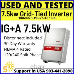 Fronius IG Plus A 7.5-1 UNI 7500W 7.8kW Grid-Tied Solar Inverter USED AND TESTED