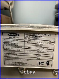 Fronius IG Plus V 6.0-1 UNI Solar Inverter 6000W