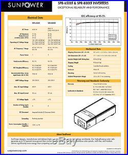 Fronius Ig Plus 6.5 Kw Grid Tie Solar Inverter Sunpower Branded Warranty
