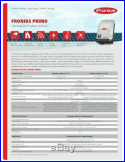 Fronius, Primo, 8.2Kw, 8,200 Watt, Wifi Grid Tie Inverter 4,210,060,800
