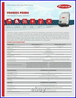 Fronius Primo 8.2kW Solar Inverter Single Phase 2 MPPT 208/240VAC