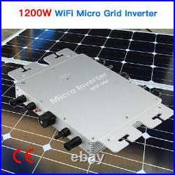 GTB-1200W 120V/230V MPPT Solar Grid Tie Micro Inverter Waterproof Pure Sine Wave