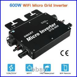 GTB-600W 120V/230V MPPT Solar Grid Tie Micro Inverter IP65 Converter Waterproof