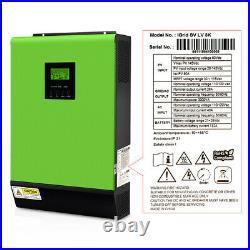 Grid Tie Inverter 2400W 24V Solar Inverter 80A MPPT Charger Hybrid Inverter /US