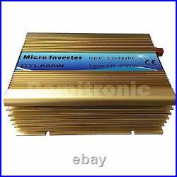 Grid Tie Inverter For 18V/36cells Panel 110V or 220V Power Inverter Golden Color