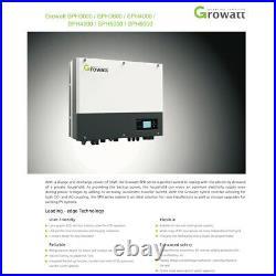 Growatt 5000W OFF/On Grid-tie Solar Inverter Dual MPPT IP65 PV550V AC230V
