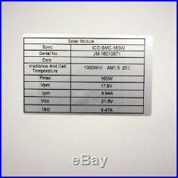Home Roof System 2000W Grid Tie Solar Kit 12-195W 12V Solar Panel 2KW Inverter