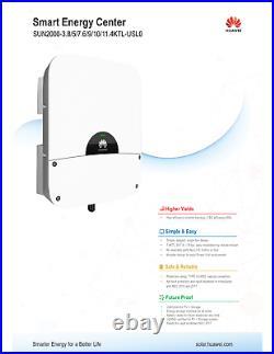 Huawei SUN2000-7.5KTL-USL0 7500w grid tie hybrid inverter, backup, storage