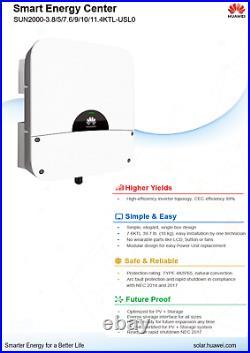 Huawei SUN2000-7.6KTL-USL0 7600w gridtie inverter 240v