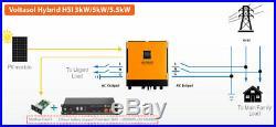 Hybrid Grid-Tie & Off Grid 5.5kW System Inverter Pylontech US2000 Energy Storage