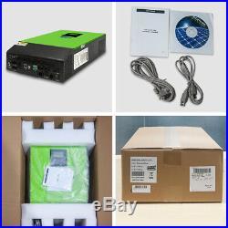 Hybrid Inverter 2400W 3KVA 24V 110VAC Grid Tie Solar Inverter 80A MPPT Charger