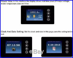 LCD Display 1000W Solar Grid Tie Inverter Pure Sine Wave DC45-90V TO AC110/230V