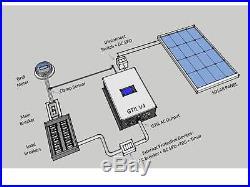 LCD Display 1000W Solar Grid Tie Limiter Inverter Pure Sine Wave 22-60V-110/230
