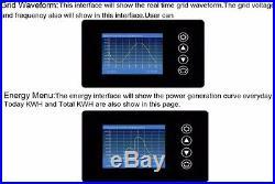 LCD Display 1000W Solar Grid Tie Limiter Inverter Pure Sine Wave 22-65V-110/230