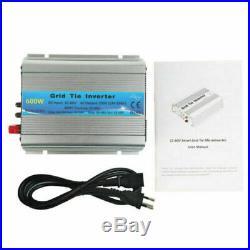 MPPT 600W Grid Tie Inverter Pure Sine Wave DC22-60V Solar Input AC110V Output CE