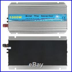 MPPT Grid Tie Micro Inverter DC20V-60V to AC110V or 220V 1000W US/EU Plug JU8FD