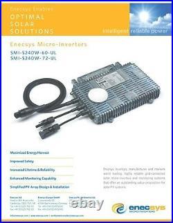 Micro Inverter 72 Cell 360w 50/60 HZ ZIGBEE WIFI Enecsys SMI-360-72 and 263-72