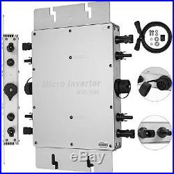 Micro inverter 1200W Mppt grid tie Solar inverter DC 22-50V to AC 220V