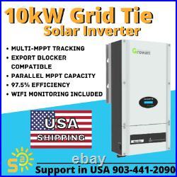 NEW 10kW 10000w UL1741 Grid-Tie Growatt STRING INVERTER + WiFi + FREE SHIPPING