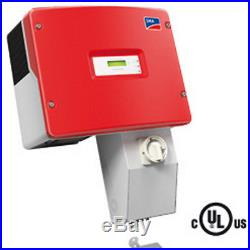 NEW! SMA Sunny Boy SB4000US-12 Grid-Tie Solar Inverter with DC Disconnect & AFCI