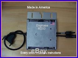 New Enphase Energy M250-60 Mc4 Grid Tie Micro-inverter Free Shipping S250w 240v