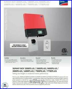 New Sunny Boy SB 3002TL-US-22 SMA Inverter BRAND NEW UN-OPENED BOX