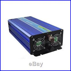 Off Grid Tie Inverter 1000W Pure Sine Wave Inverter DC12V to AC110V/220V Blue
