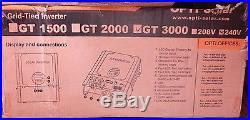 Opti-solar Gt3000 Grid Tie Inverter 240v 3000w