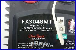 OutBack Power Grid/Hybrid FX3048MT 3000 Watt 48 Volt Sine Wave Inverter/Charger
