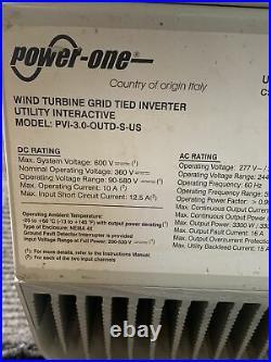 Power One Aurora PVI 3.0-OUTD-S-US Single/Split Phase Grid Tied Inverter