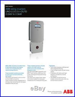 PowerOne UNO 2.0-I-OUTD-S-US 2000 Watt Solar Grid Tie Inverter FREE SHIPPING