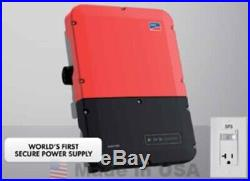 Puerto Rico, Sma Sunny Boy 7.7-US-40 Grid Tie Inverter with Secure Power Supply