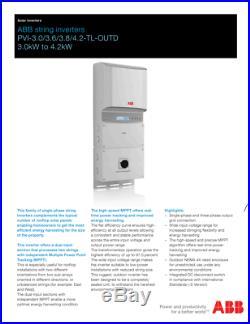 Replaces SMA Inverter 3.6kW 3600W Sunny Boy, Fronius, Grid Tie Inverter AFCI