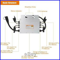 SG1400MQ Micro Grid Tied Inverter 120V 230V 1400W IP65 Waterproof Solar Inverter