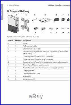 SMA SB3.0-1 SP-US-41 Sunny Boy Solar Inverter 3kW 208/240VAC