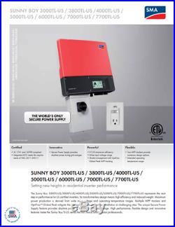 SMA SB4000TL-US-22, 4000w Gridtie Inverter 208v/240v INVERTER