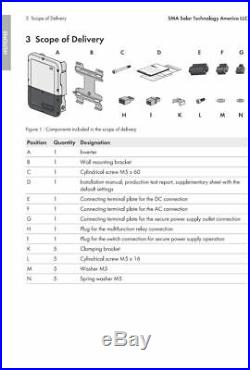 SMA SB7.7-1 SP-US-40 Sunny Boy Solar Inverter Standard 7.7kW