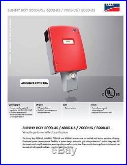 Sma Sunny Boy Sb 6000-us-10 Grid-tie Solar Inverter 208/240/277v Free Shipping