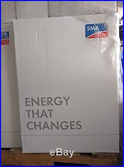 SMA Sunny Boy 5000w AFCI Grid-tie Inverter SB5000US-12 warranty & DC Disconect