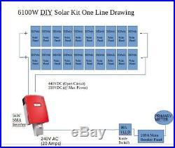 SMA Sunny Boy 6000w 6kW Solar Inverter BRAND NEW Grid Tie with Combiner Box UL1741