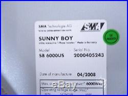 SMA Sunny Boy SB 6000US Grid Tie Inverter
