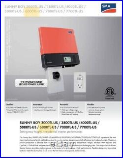SMA Sunny Boy SB6000TL-US-22 Grid Tied Solar Inverter Best (240Vac/208Vac)
