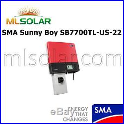 SMA Sunny Boy SB7700TL-US-22 Grid-Tie String Solar Inverter Made in the USA