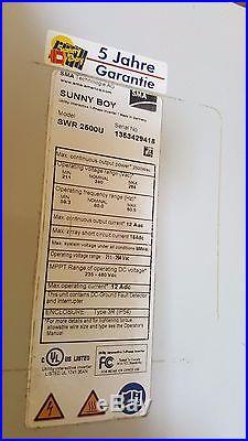 SMA Sunny Boy SWR-2500U 240v Grid Tie Inverter