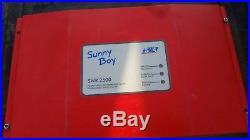 SMA Sunny Boy SWR-2500U 240v Grid Tie Inverter, 30 day Warranty. No LCD display
