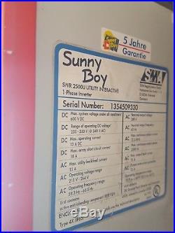 SMA Sunny Boy SWR2500U 240v Grid Tie solar Inverter Used